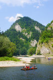 Rafting on Dunajec river, Poland Royalty Free Stock Images
