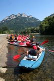 Rafting on Dunajec River, Poland Stock Image