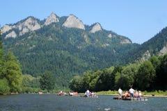 Rafting on Dunajec River, Poland Royalty Free Stock Photography
