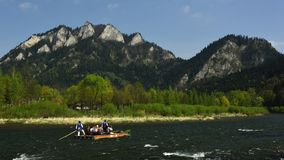 Dunajec Rafting, Pieniny, Spis Region, Slovakia royalty free stock image