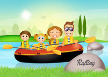 Rafting experience Royalty Free Stock Images