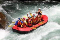 Rafting för flod Arkivfoton
