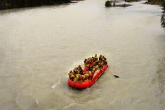 Rafting för flod, Kanada Arkivbilder