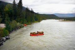 Rafting för flod, Kanada Royaltyfri Foto