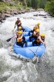 Rafting för vänner Royaltyfri Fotografi