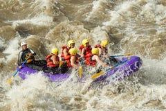 Rafting för vitt vatten Royaltyfri Bild