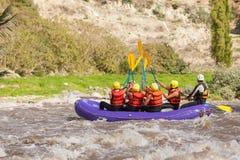 Rafting för vitt vatten Royaltyfria Foton