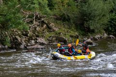 Rafting in the French Basque Country Stock Photos