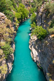 Rafting in the green canyon, Alanya, Turkey Royalty Free Stock Photo