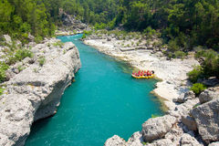 Rafting in the green canyon, Alanya, Turkey Royalty Free Stock Photos