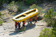 Rafting in the green canyon, Alanya, Turkey Royalty Free Stock Images