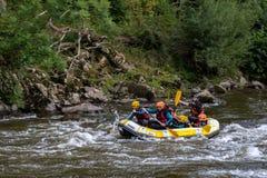 Rafting in het Franse Baskische Land royalty-vrije stock afbeelding