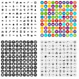 100 rafting icons set vector variant. 100 rafting icons set vector in 4 variant for any web design isolated on white Stock Photo