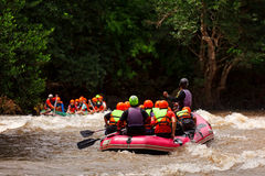 Rafting In River Of Northern Thailand Royalty Free Stock Photos