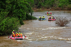 Rafting In River Of Northern Thailand Stock Photo