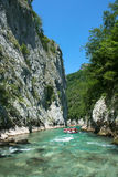 Rafting In The Canyon Of River Neretva Stock Images