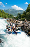 Rafting In The Canyon Of River Neretva Royalty Free Stock Photos