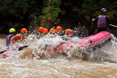 Rafting In The River In North Of Thai Stock Photo