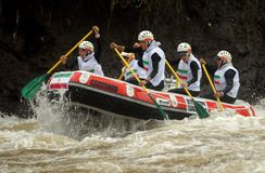 RAFTING IN INDONESIA Stock Images