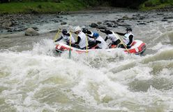 RAFTING IN INDONESIA Royalty Free Stock Images