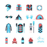 Rafting infographic elements. Stock Photography