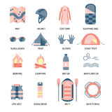 Rafting infographic elements. Stock Photos