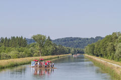 Rafting on the Isar Royalty Free Stock Images