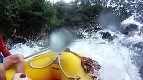 Rafting on the Kaituna River with GoPro