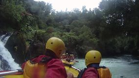 Rafting on the Kaituna River with GoPro stock video footage