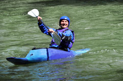 Rafting, Kayaking, extreme, sport, water, fun Royalty Free Stock Photography