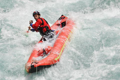 Rafting, Kayaking, uiterste, sport, water, pret Stock Foto