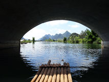Rafting on Li River Stock Photo