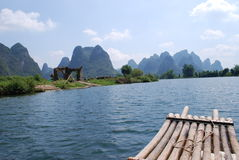 Rafting on the Lijiang River Royalty Free Stock Photography