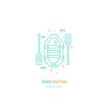 Rafting logo design vector illustration