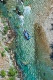 Rafting in Montenegro. Rafting on the River Tara in Montenegro Stock Photo