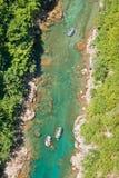 Rafting in Montenegro. Rafting on the River Tara in Montenegro Stock Photos