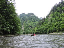 Rafting in mountains river Stock Photography