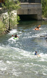 Rafting in Noguera Pallaresa river Royalty Free Stock Photos