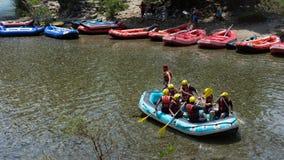 3rd June 2018; Antalya, Turkey - Rafting team royalty free stock photo