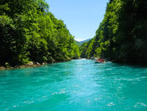 Rafting op de rivier Stock Foto's