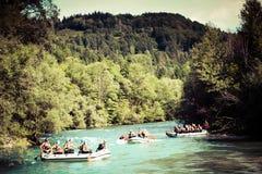 Rafting op rivier Royalty-vrije Stock Fotografie