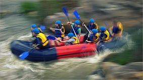 Rafting på forsar av den sydliga felfloden, Migiya Arkivbild