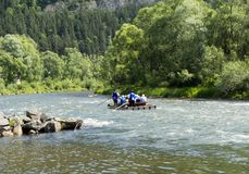 Rafting in the Pieniny stock photography