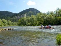 Rafting in the Pieniny Stock Image
