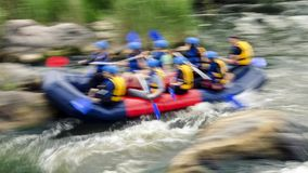 Rafting on rapids of the Southern Bug River, Migiya. Rafting on the rapids of the Yuzhny Bug, Migiya, Granitno-Stepnoe Pobuzhye - regional landscape park in the Stock Image