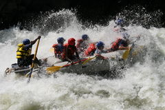 Rafting on a river Stock Photography
