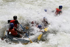 Rafting on a river Royalty Free Stock Photography