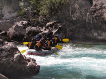 Rafting on a river Stock Image