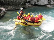 Rafting on a river Royalty Free Stock Image