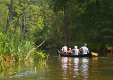 Rafting on the river Krutynia. Poland, July, 2012 Stock Photography